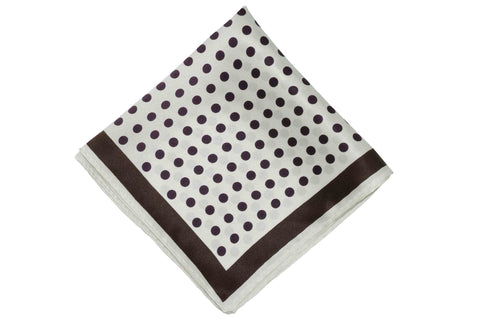 White Dots Silk Pocket Square