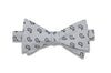 White Paisley Cotton Bow Tie (self-tie)