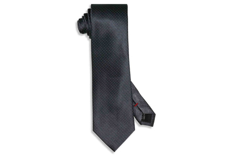 White Pin Dot Silk Tie