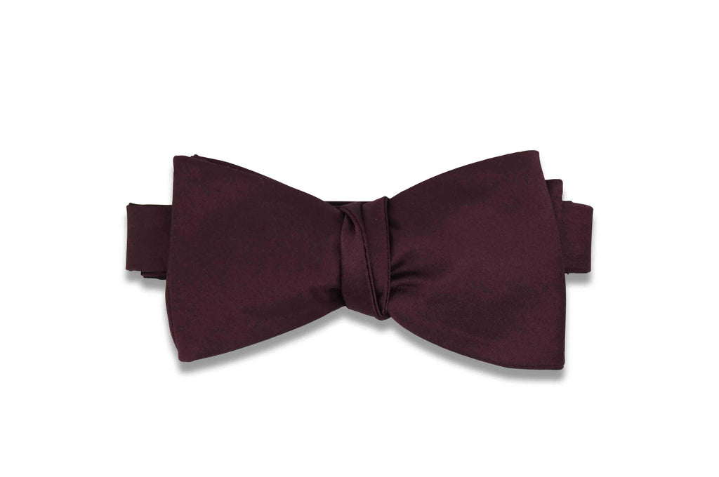 Wine Purple Bow Tie (Self-Tie)