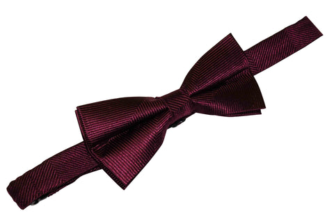 Wine Purple Silk Bow Tie (Boys)