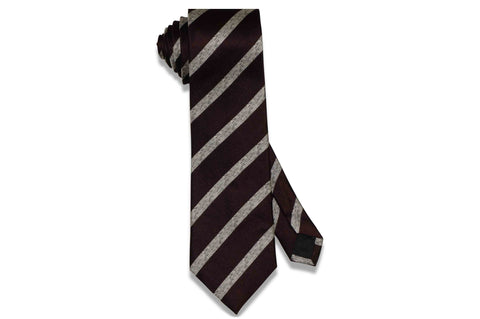 Wine Stripes Silk Tie