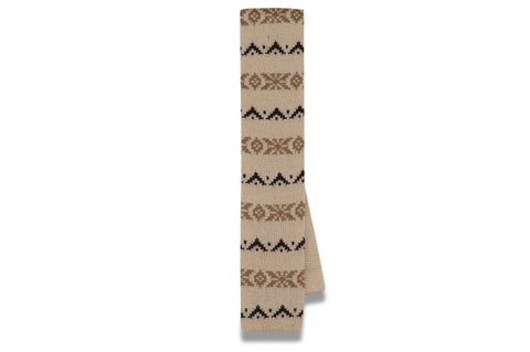 Winter Beige (Knitted Skinny Tie)