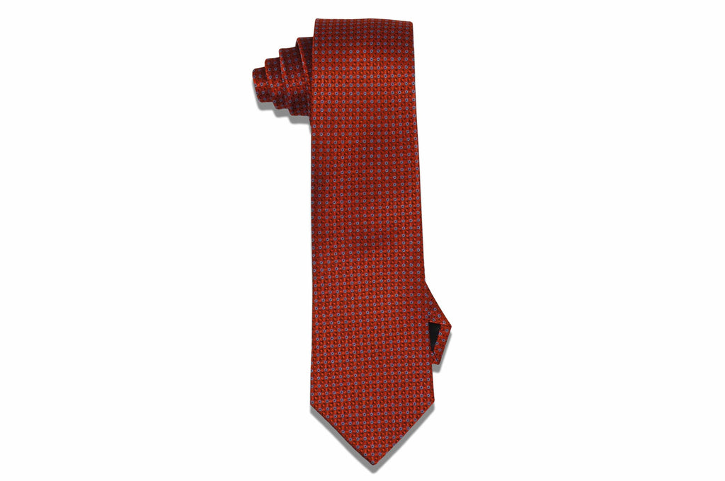 Winter Orange Silk Tie