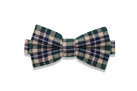 WONKA GREEN WOOL BOW TIE (pre-tied)
