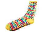 Yellow Blue Camo Men's Socks