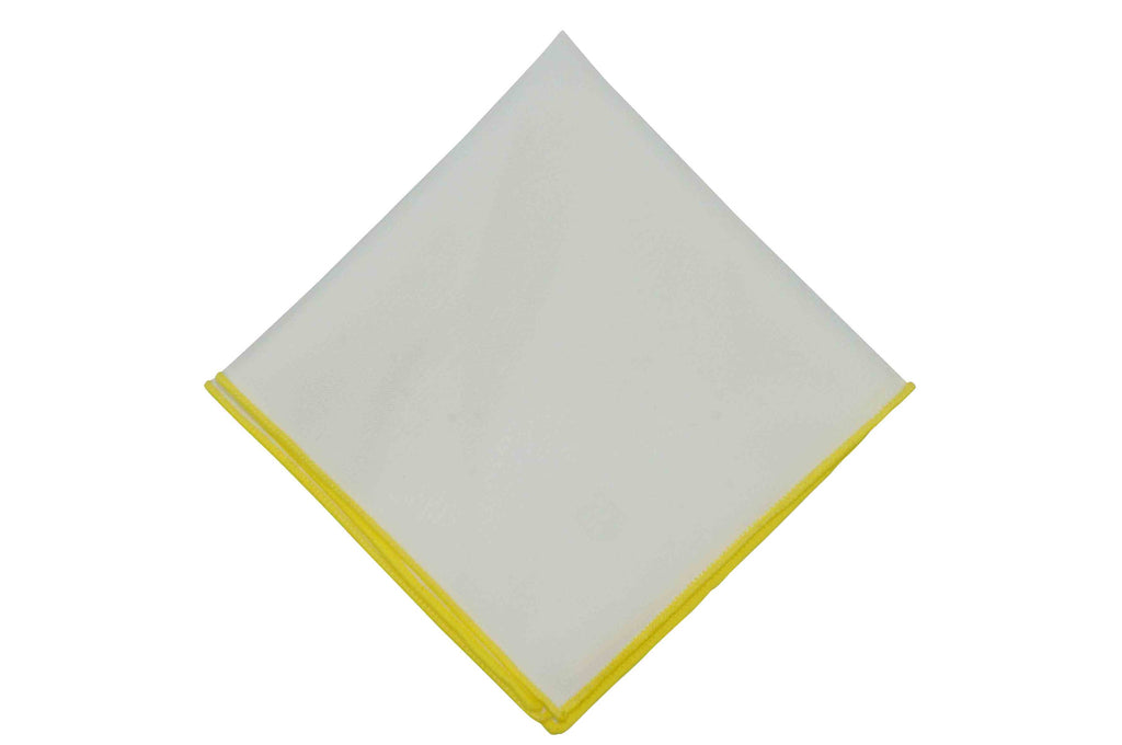 Yellow Piping Cotton Pocket Square