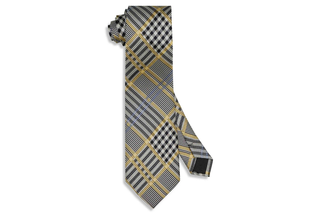 Yellowed Black Silk Tie