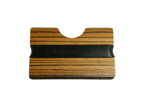 Zebra Wood Card Holder
