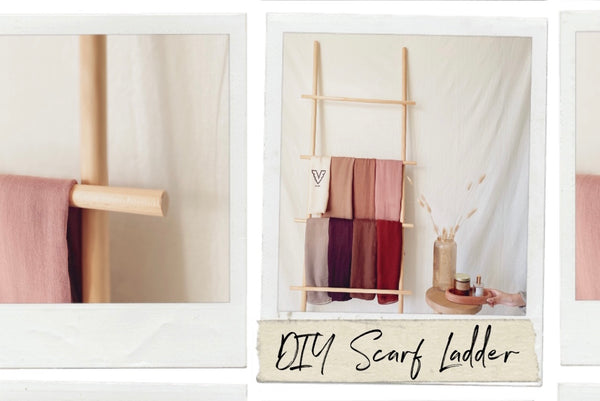 How To Make A DIY Scarf Ladder For Under $20