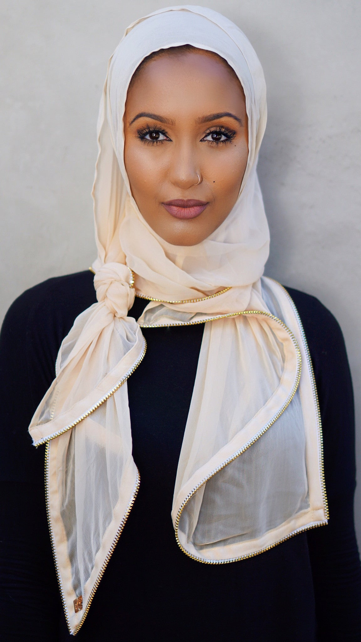 light_beige_chiffon_hijab_perfect_for_summer