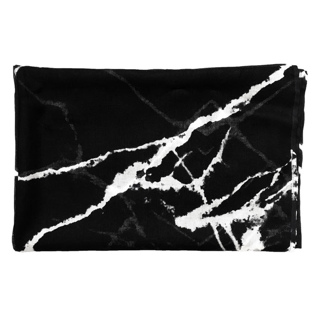 black_and_white_marble_print_scarf