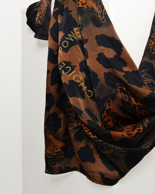 silk leopard square