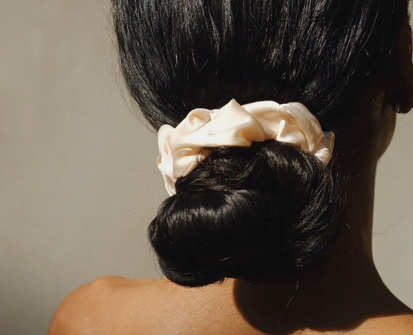 100% up-cycled satin scrunchie