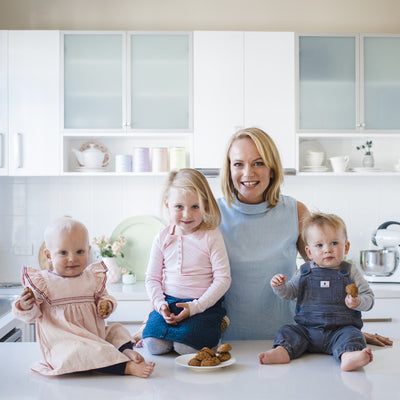 Jo with her kids - Breastfeeding Twins