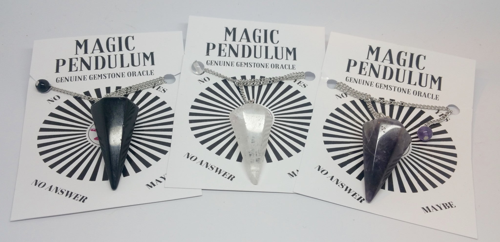 Magic Pendulum -Genuine Gemstone Oracle - Pretty Princess Style  - 3