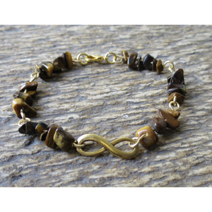 Forever Strength Courage Strength-Energy Motivation Bracelet- Tigers Eye - Pretty Princess Style
