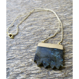 Labradorite Bar Necklace - Pretty Princess Style