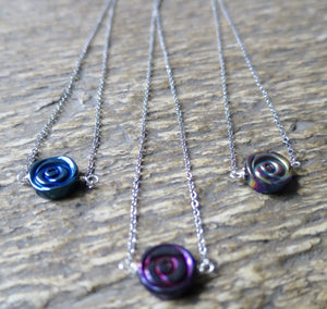 Hematite Rose  Necklace - Pretty Princess Style  - 1