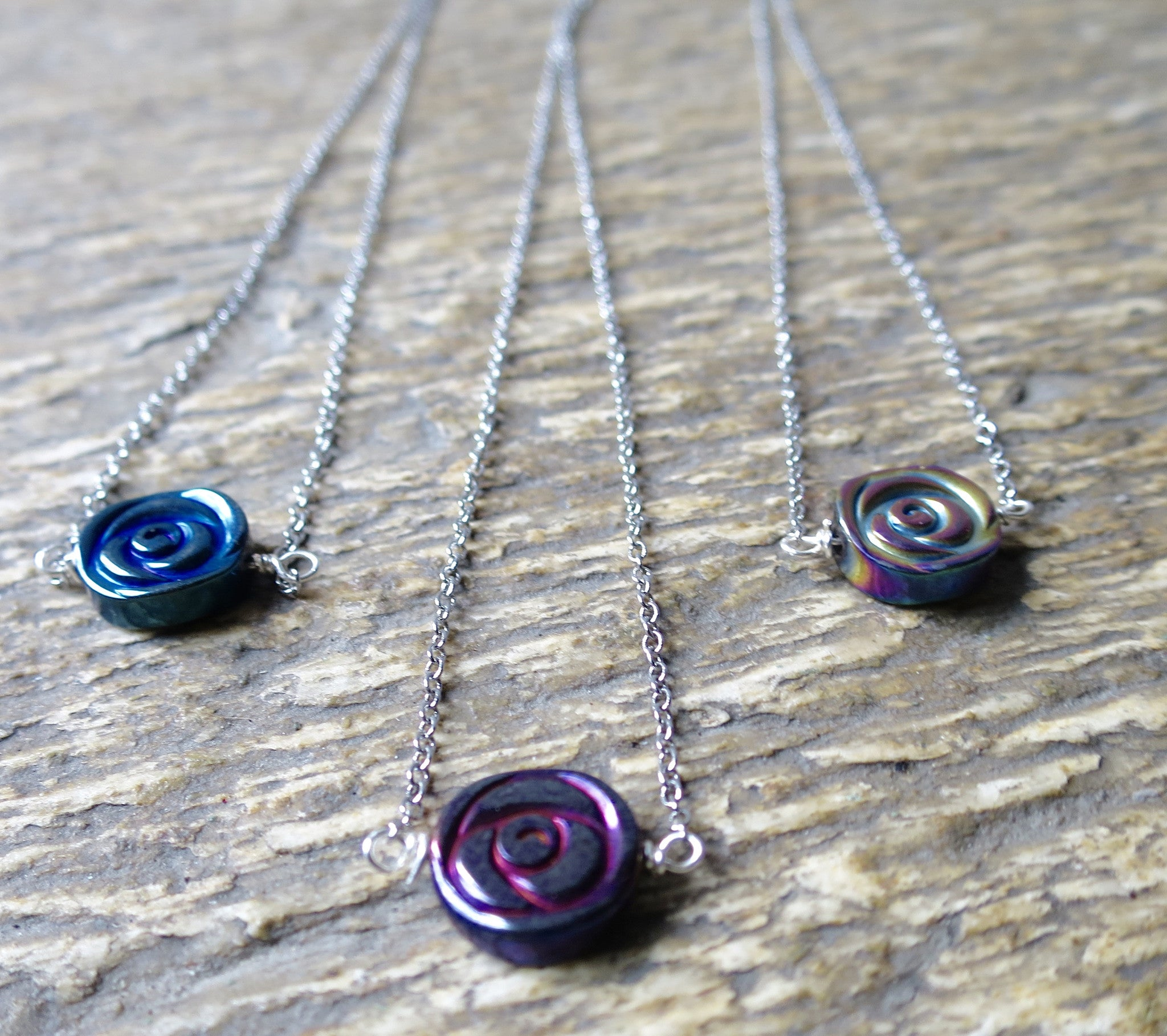Hematite Rose  Necklace - Pretty Princess Style  - 3