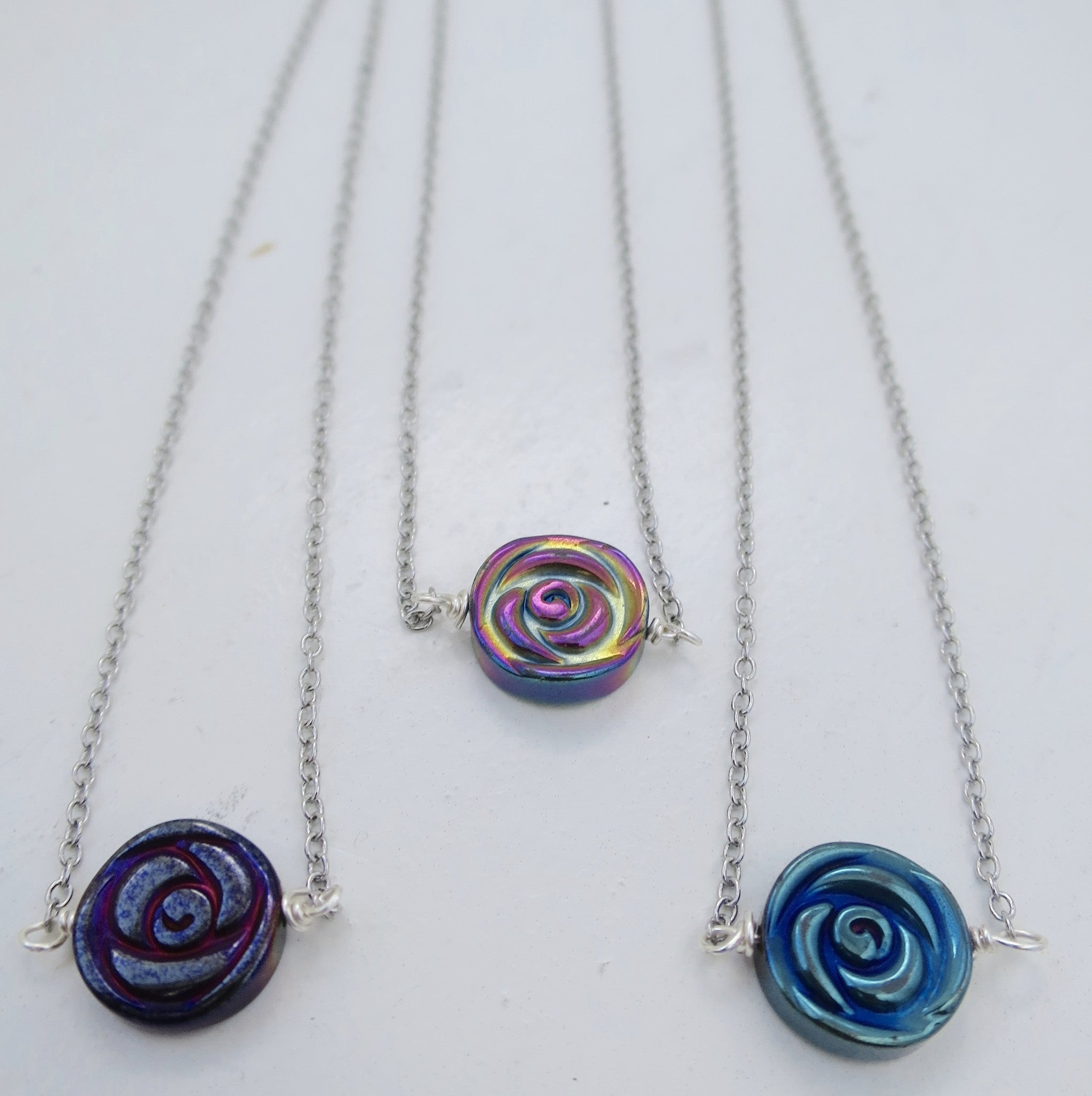 Hematite Rose  Necklace - Pretty Princess Style  - 4