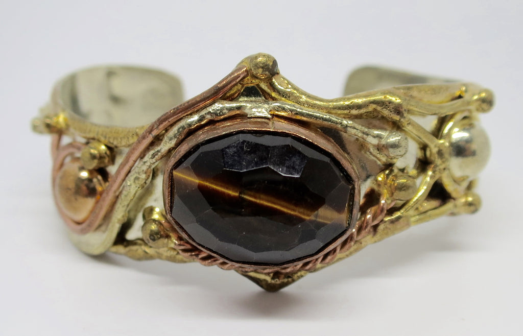 Allura Power Gems- Faceted Tiger's Eye - Pretty Princess Style  - 1