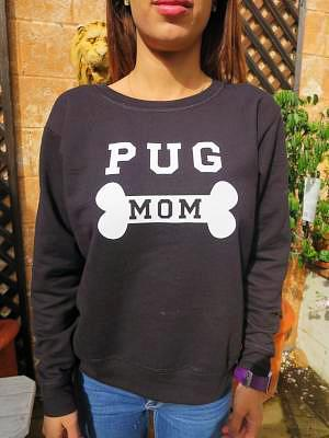 Pug Mom Sweatshirt - Pretty Princess Style