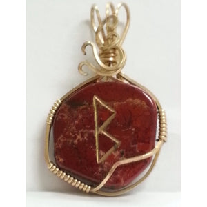 Gemstone Power pendant: Berkana Rune Power - Pretty Princess Style