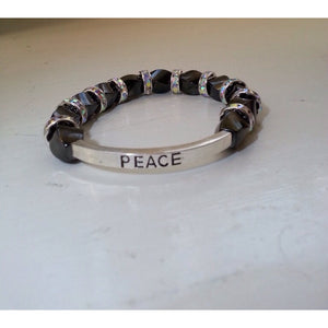 Triple Power Magnetic Hematite Clear Crystal Power Bracelet - Pretty Princess Style