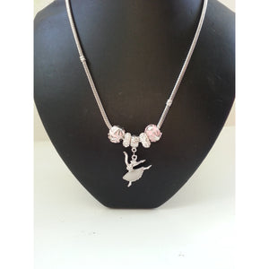 Ballerina Dance Charm Necklace - Pretty Princess Style