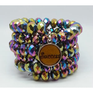 Success Memory Wire Power Bracelet - Pretty Princess Style