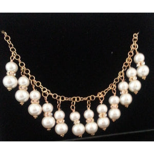 Princess Pearl Necklace-White - Pretty Princess Style