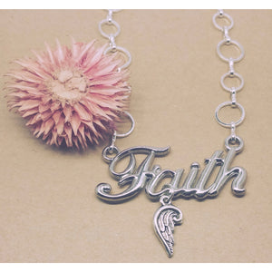 Faith of Angels Charm Necklace - Pretty Princess Style