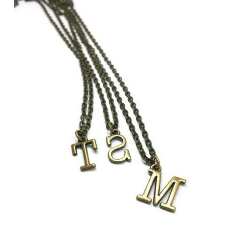 Personalized Name Initial Necklace - Pretty Princess Style