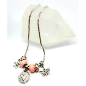 For Love Of Butterflies European Charm Necklace - Pretty Princess Style