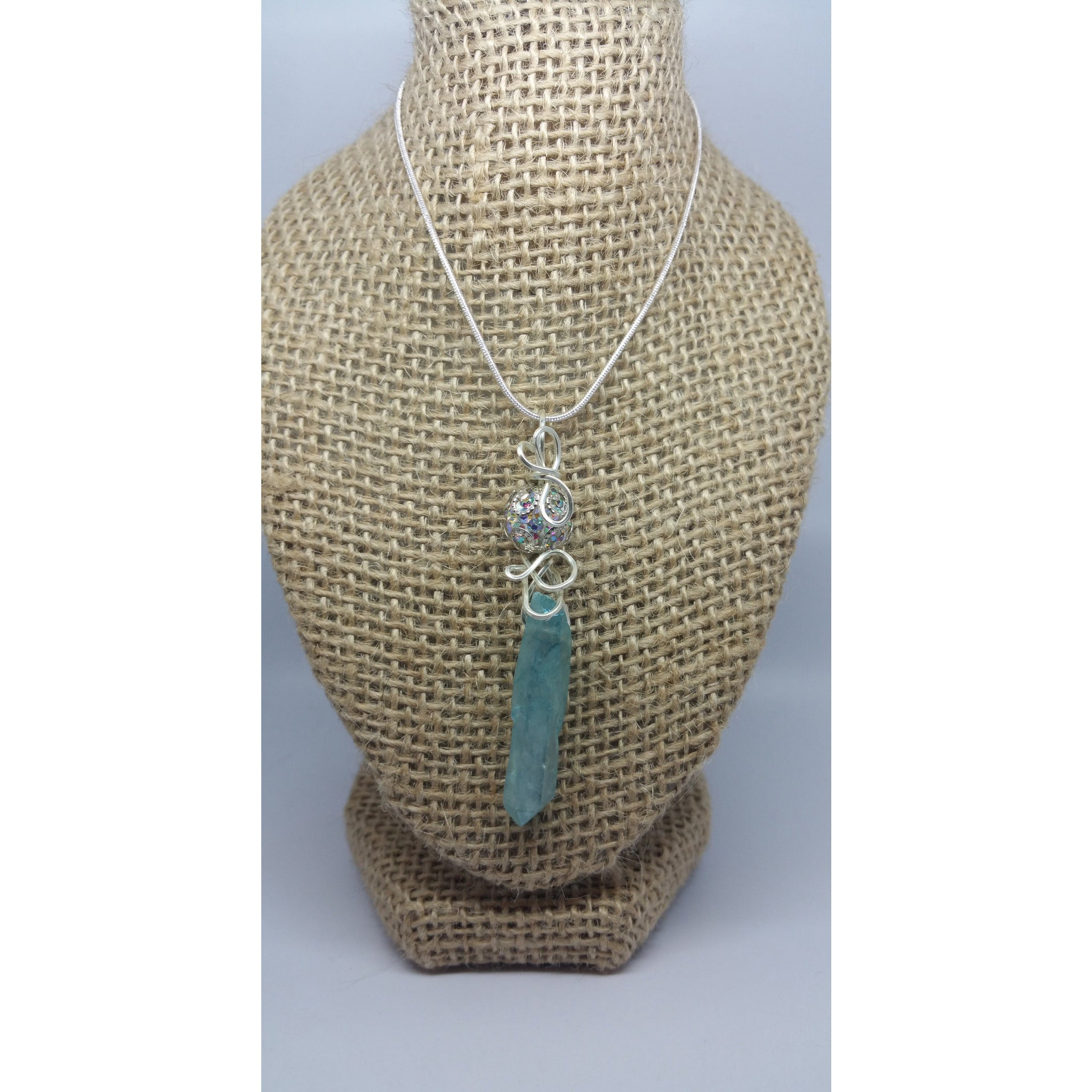 Aqua Aura Quartz Point - Pretty Princess Style