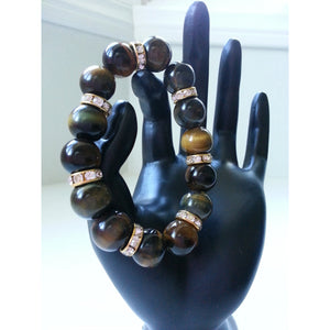 Tigereye Gemstone Power Bracelet - Pretty Princess Style