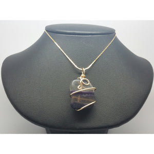 Fluorite Power Pendant -Clear Mind Creative Thought - Pretty Princess Style