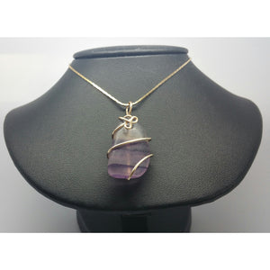 Fluorite Power Pendant- Clear Creative Thought - Pretty Princess Style