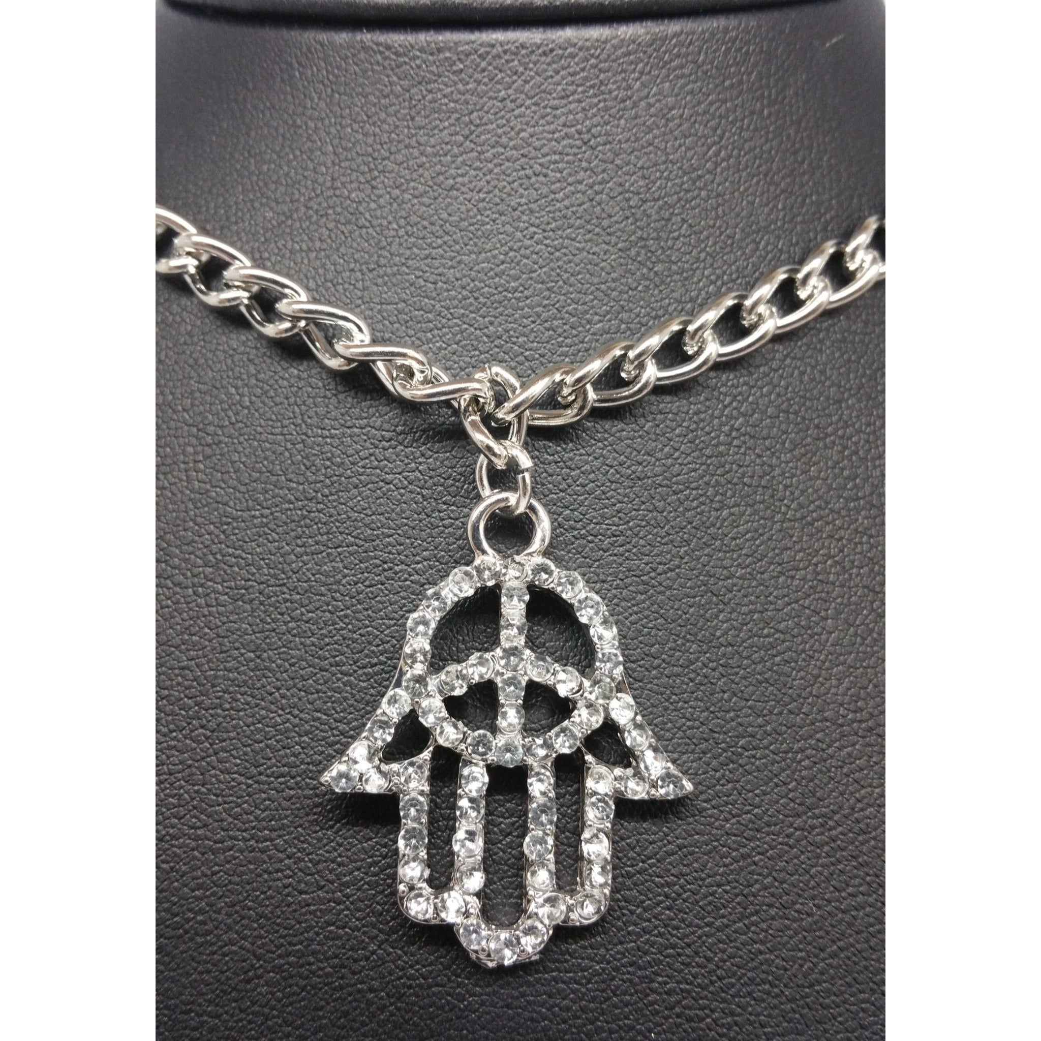 Hamsa Protection Necklace - Pretty Princess Style  - 2