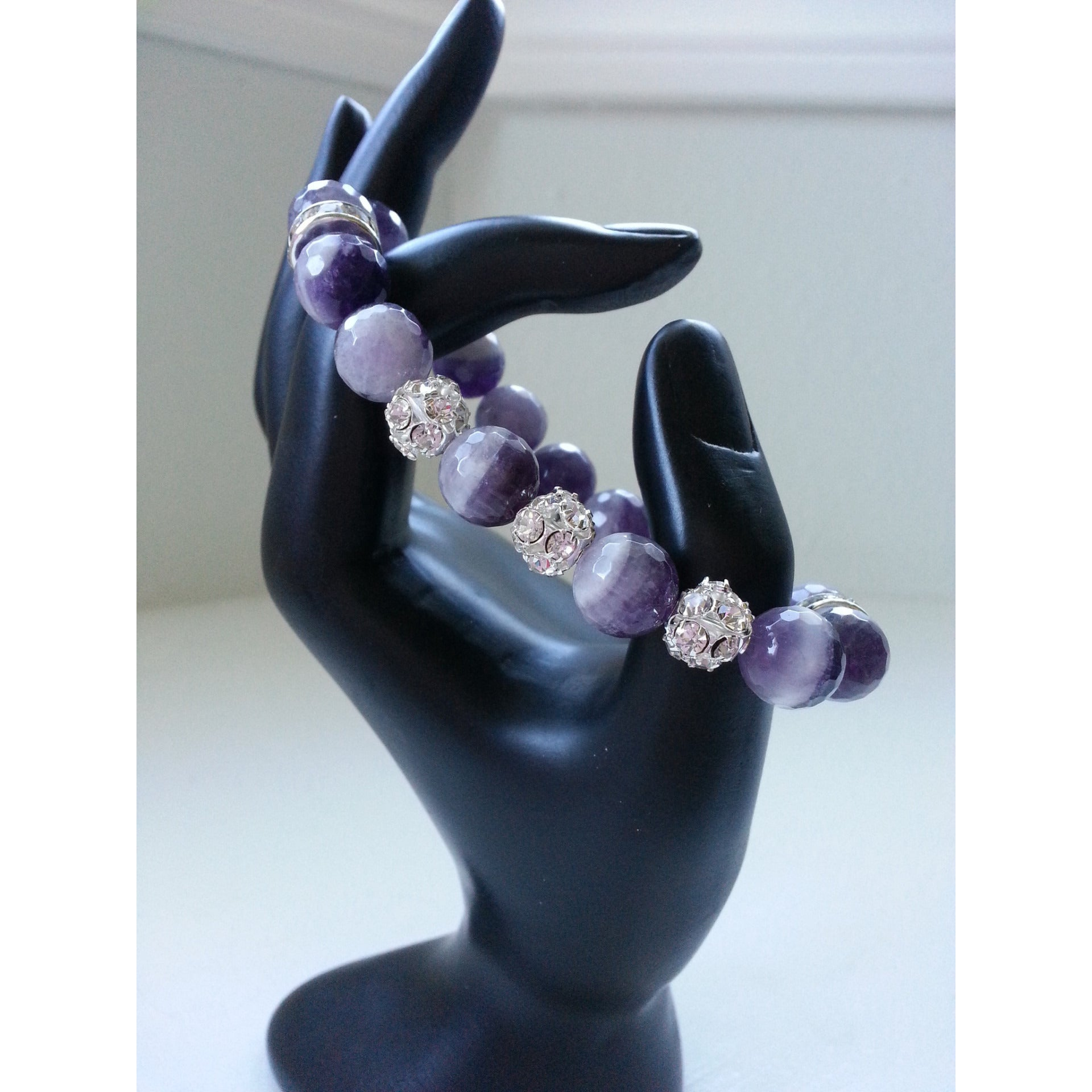 Faceted Amethyst Power Bracelet - Pretty Princess Style