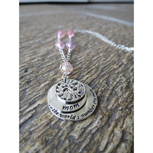World's #1 MOM Necklace- Mother's Day - Pretty Princess Style