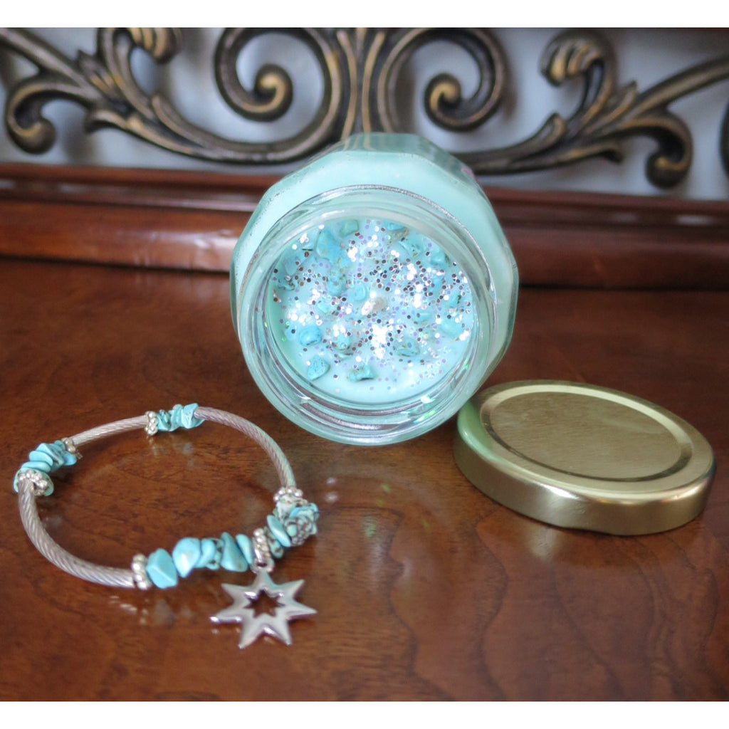 Mystic Scentuals-Crystal Empowerment Candles-Turquoise - Pretty Princess Style