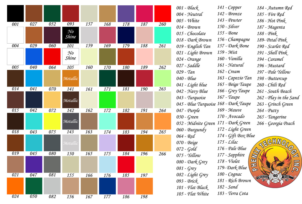 Phenix Fire Custom Leather Fire Helmet Color Chart