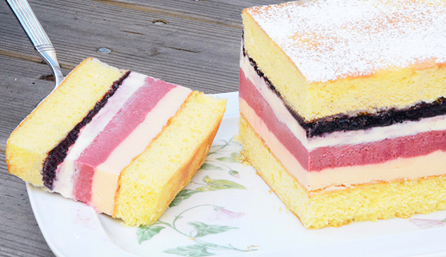 Berry Mature Striped Ice Cream Cake