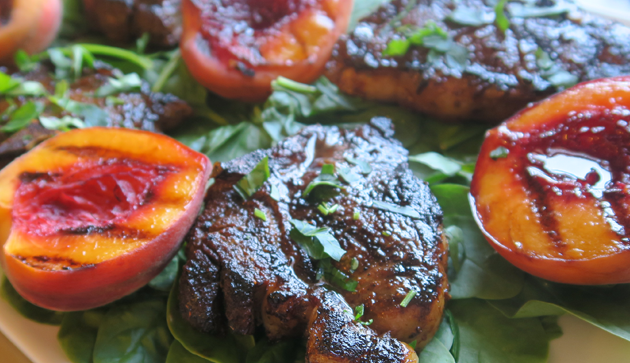 To Peach His Own Spiced Lamb Chops