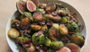 Pan Roasted Brussels Sprouts with Bacon & Can You Fig It Glaze