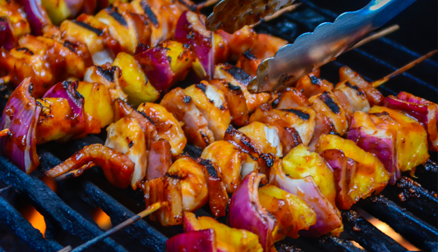Chipotle BBQ Chicken Skewers
