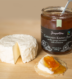 Cardamom Knows Zest | seville orange marmalade with cardamom | cheese | cracker