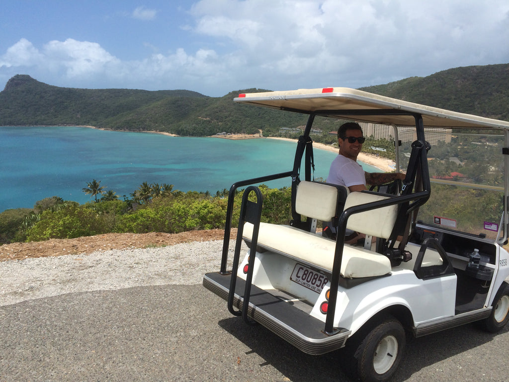 Golf carting around Hamilton Island